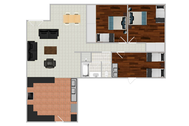Gariepinn Guesthouse Floor Plans